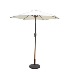 Billyoh 2m, 2.5m or 3m Aluminium Crank and Tilt Wood Effect Parasol Natural 2.5m Aluminium Natural