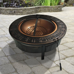 Billyoh 3 in 1 Round Brazier Fire Pit Portable Charcoal Bbq Brazier 3 in 1 Firepit Bbq