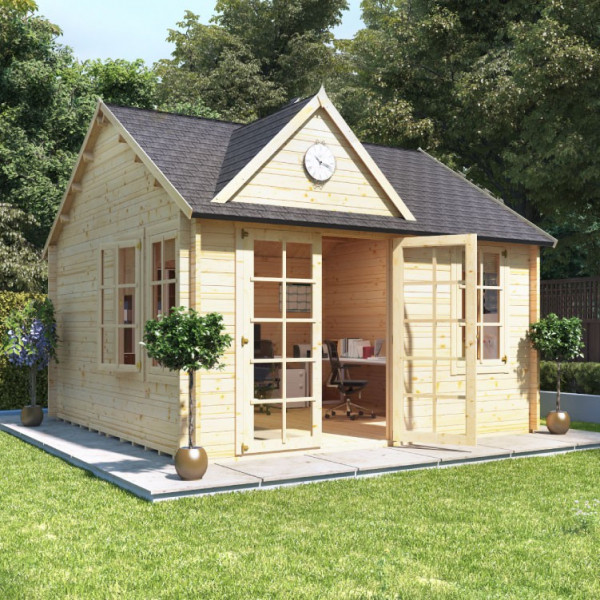 Buy 4.0m x 4.0m BillyOh Clubhouse Home Office Log Cabin 35,44 Online - Garden Houses & Buildings