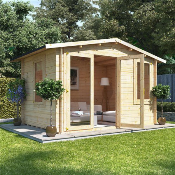 Buy 3.5m x 2.5m BillyOh Sportsman Log Cabin 19 Online - Garden Houses & Buildings