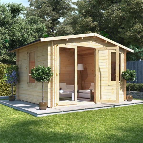 Buy 3.5m x 3.0m BillyOh Sportsman Log Cabin 19 Online - Garden Houses & Buildings