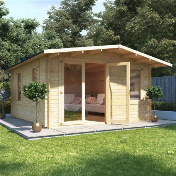 Buy 4.0mx5.0m BillyOh Montana Log Cabin 28 Online - Garden Houses & Buildings