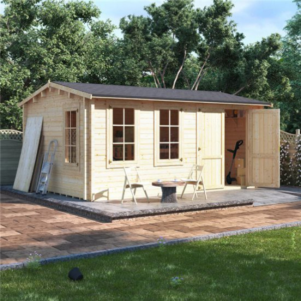 Buy 5.0m x 3.5m BillyOh Traditional Log Cabin Workshop 70 Online - Garden Houses & Buildings