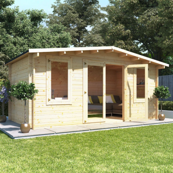 Buy 5.0m x 3.0m BillyOh Winchester Log Cabin 28,44 Online - Garden Houses & Buildings