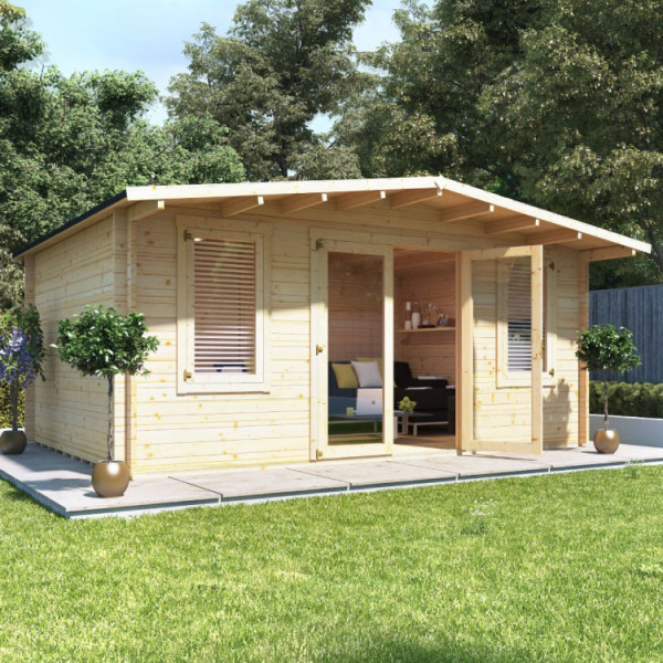 Buy 5.0m x 4.0m BillyOh Winchester Log Cabin 28,44 Online - Garden Houses & Buildings