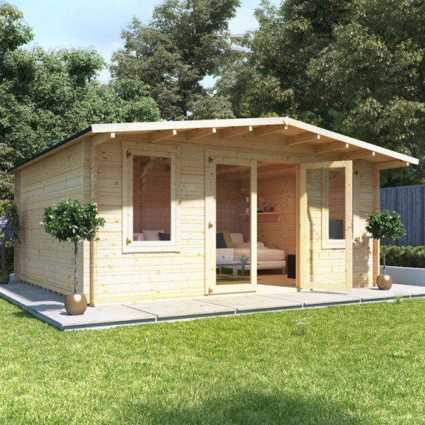 Buy 5.0m x 5.0m BillyOh Winchester Log Cabin 28,44 Online - Garden Houses & Buildings
