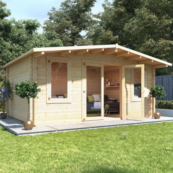 Buy 5.0m x 4.0m BillyOh Winchester Log Cabin 70 Online - Garden Houses & Buildings