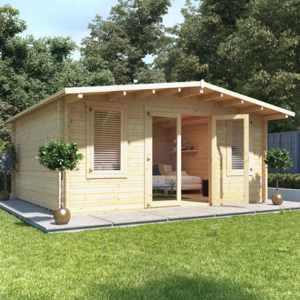 Buy 5.0m x 5.0m BillyOh Winchester Log Cabin 70 Online - Garden Houses & Buildings