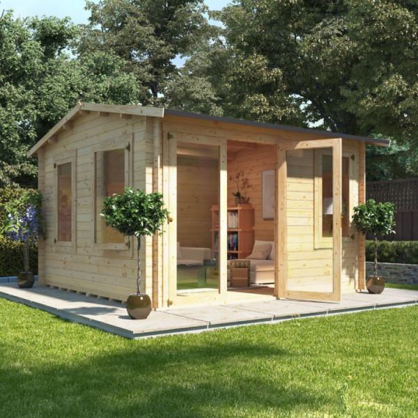 Buy 3.5m x 3.5m BillyOh Derwent Log Cabin 19 Online - Garden Houses & Buildings