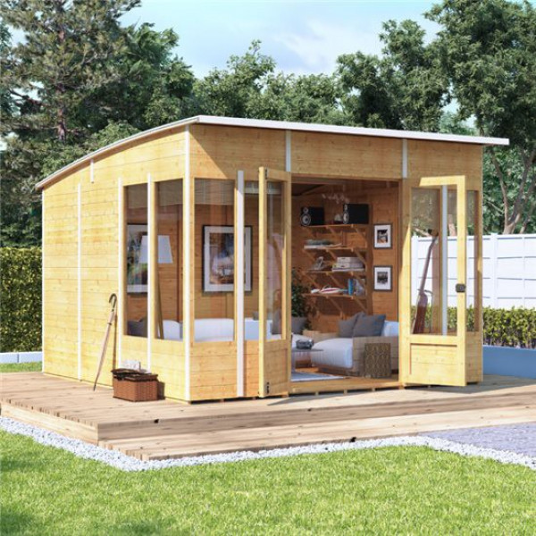Buy BillyOh 5000 Sunroom Summerhouse Range PT 10x10 Sunroom 2 Windows Each Side Online - Garden Houses & Buildings