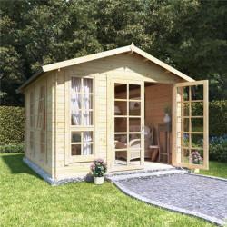 10x10 Georgian Bl Oor Billyoh Miller Log Cabin Summerhouse 19