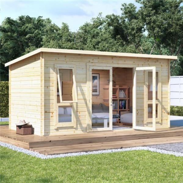 Buy 14 x 8 BillyOh Carmen Log Cabin Summerhouse 19 Online - Garden Houses & Buildings