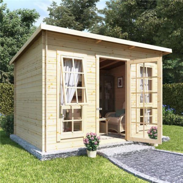 Buy 10 x 8 BillyOh Skinner Log Cabin Summerhouse 19 Online - Garden Houses & Buildings
