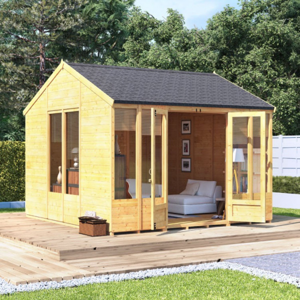Buy BillyOh Petra Tongue and Groove Reverse Apex Summerhouse PT 10x10 T&G Reverse Apex Summerhouse Online - Garden Houses & Buildings