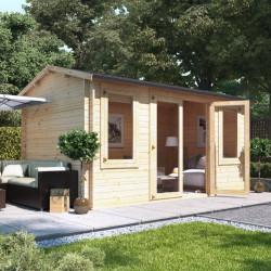 4.5m X 2.5m Billyoh Dorset Log Cabin 28,35,44
