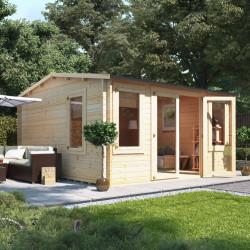 4.0m X 4.5m Billyoh Dorset Log Cabin 28,35,44