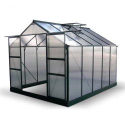 Billyoh Harvester Walk in Aluminium Greenhouse Double Door, Twin Wall Polycarbonate Glazing 8x10