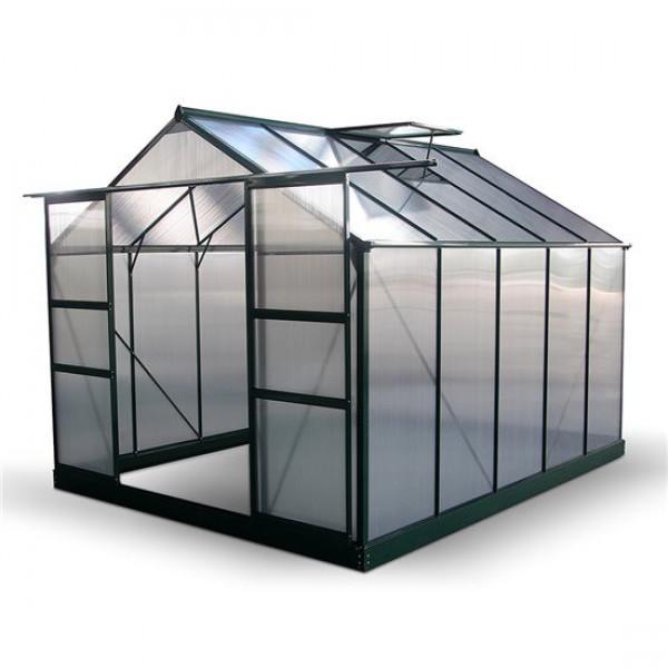 Buy BillyOh Harvester Walk In Aluminium Greenhouse Double Door, Twin Wall Polycarbonate Glazing 8x10 Online - Greenhouses