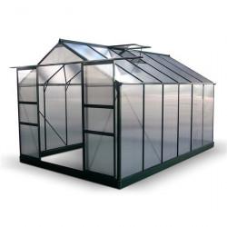 Billyoh Harvester Walk in Aluminium Greenhouse Double Door, Twin Wall Polycarbonate Glazing 8x12