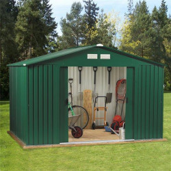 10' X 8' Billyoh Clifton Refurbished 10' X 8' Fronted Premium Metal Sheds Including Assembly Green