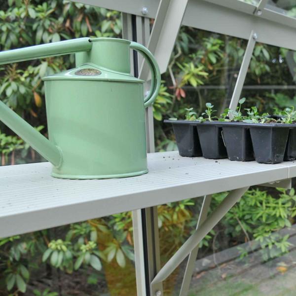 Buy Harrod Slatted Shelving Olive Green Online - Garden Houses & Buildings