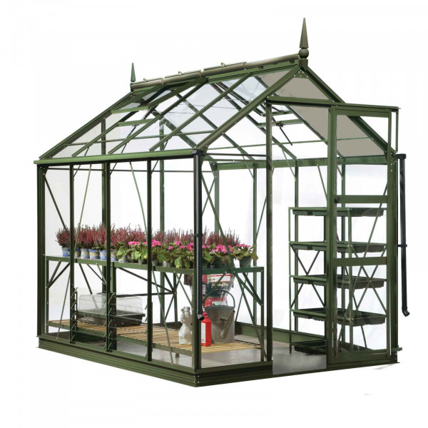 Buy Harrod Superior Greenhouse Olive Green Online - Greenhouses
