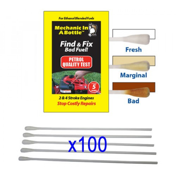 Buy B3C Mechanic In A Bottle Petrol Test Swabs Pack of 100 Online - Garden Tools & Devices