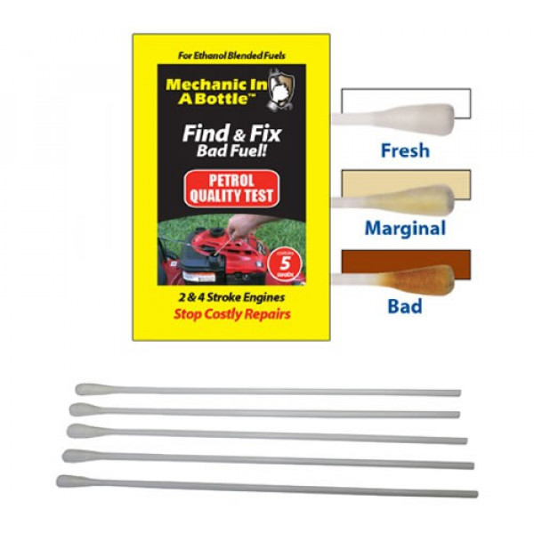 Buy B3C Mechanic In A Bottle Petrol Test Swabs Pack of 5 Online - Garden Tools & Devices