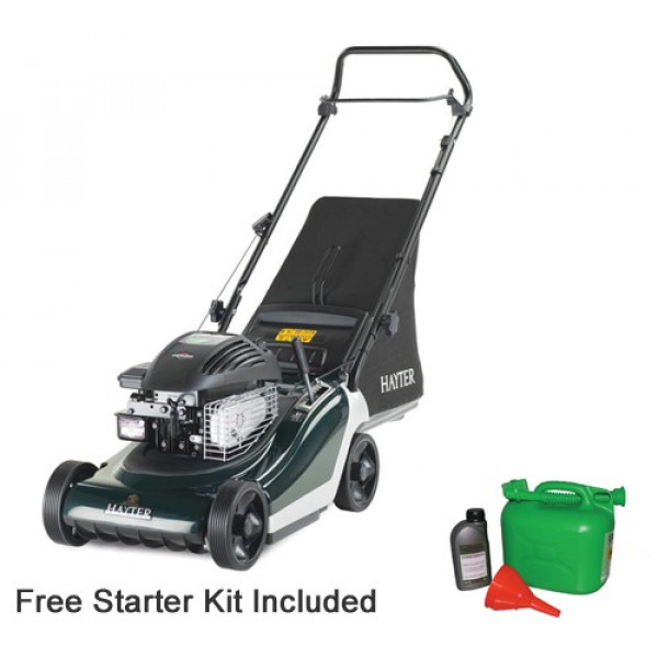 Buy Hayter Spirit 41 Push Petrol Four Wheeled Lawn mower Online - Petrol Mowers