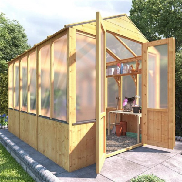 Buy BillyOh 4000 Lincoln Wooden Polycarbonate Greenhouse 9 x 6 Lincoln Wooden Greenhouse Online - Garden Furniture