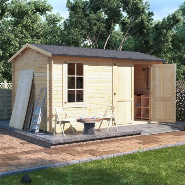 Buy 4.5m x 2.5m BillyOh Traditional Log Cabin Workshop 28,35,44 Online - Garden Houses & Buildings