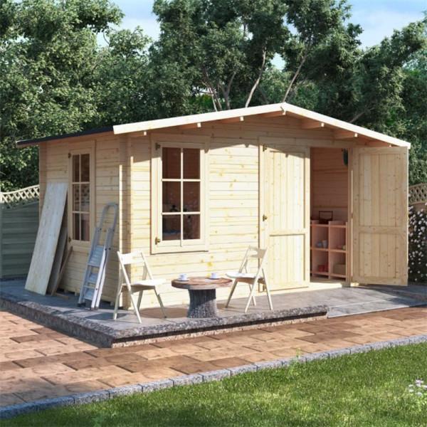 Buy 4.0 x 3.0 BillyOh Alpine Workshop Log Cabin 28 Online - Garden Houses & Buildings
