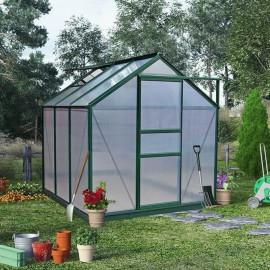 Billyoh Rosette Hobby Aluminium Greenhouse Single Sliding Door 6 X 6 Green