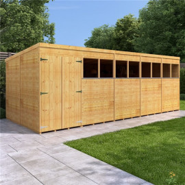 Billyoh Expert Tongue and Groove Pent Workshop 20x8 T&g Pent Windowed