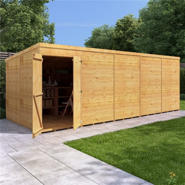 Buy BillyOh Expert Tongue and Groove Pent Workshop 20x8 T&G Pent Windowless Online - Sheds