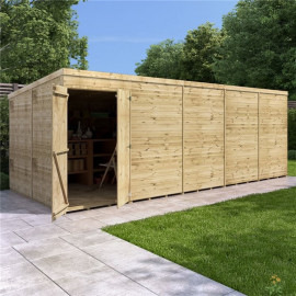 Billyoh Expert Tongue and Groove Pent Workshop Pt 20x8 Expert T&g Pent Shed Windowless