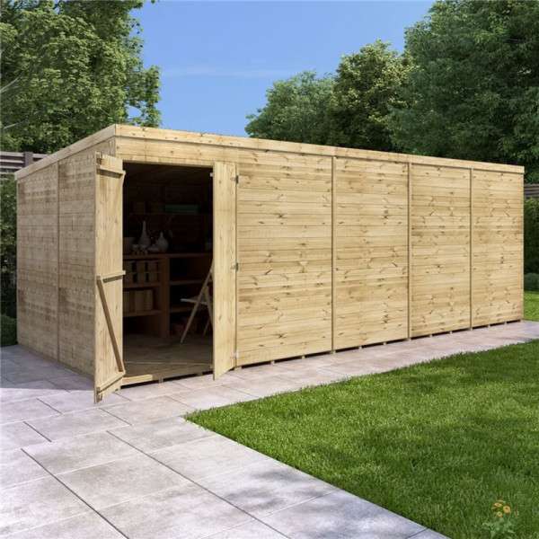 Buy BillyOh Expert Tongue and Groove Pent Workshop PT 20x8 Expert T&G Pent Shed Windowless Online - Sheds