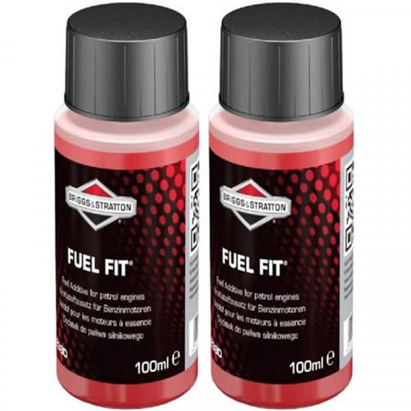 Buy Two 100ml Bottles Briggs ; Stratton Fuel Fit Stabiliser 992380 Online - Garden Tools & Devices