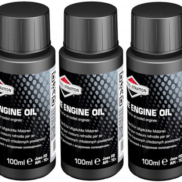 Buy Three Bottles Briggs ; Stratton Two Stroke Oil Fully Synthetic One Shot 992413 Online - Garden Tools & Devices