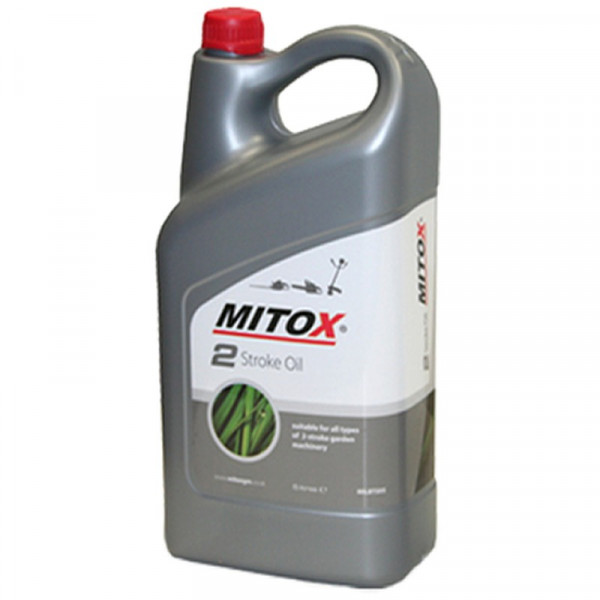 Buy Mitox Two Stroke Oil Semi Synthetic 5 Litre Bottle Online - Garden Tools & Devices