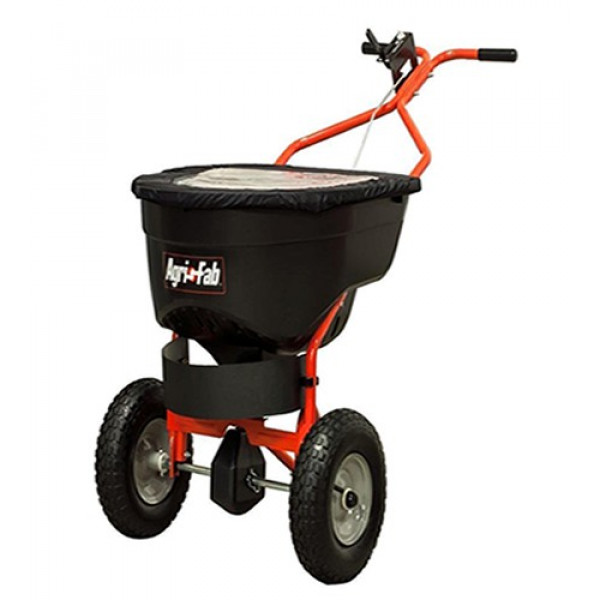 Buy AGRI FAB 130lb Push Pro Salt Spreader Online - Wheelbarrows & Sack Trucks