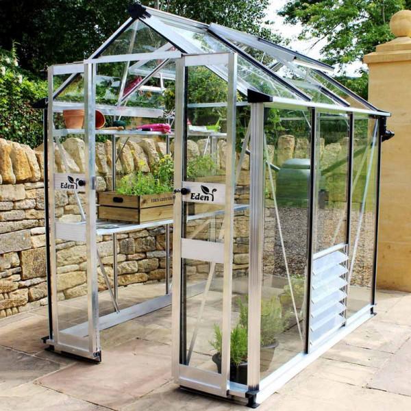 Buy Eden Birdlip 44 Greenhouse Green Aluminium Online - Green plants & flowering plants